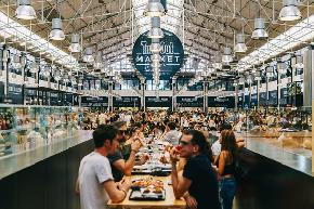 Food Halls Bring a Glimmer of Hope to the Beleaguered Restaurant Industry