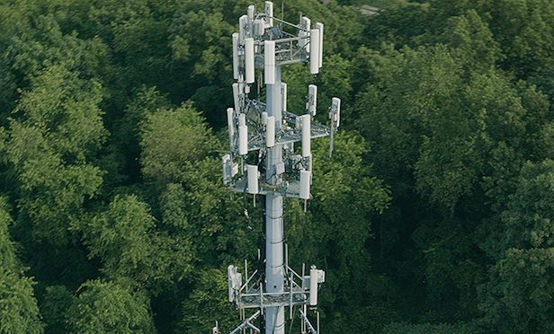 A Crown Castle wireless tower