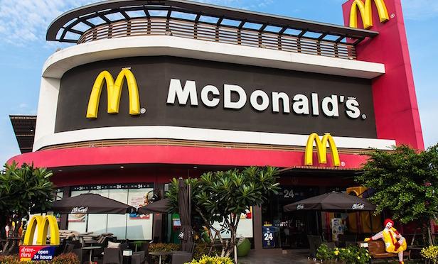 A McDonald's storefront