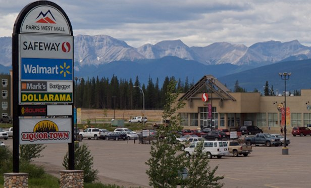 Parks West Mall in Hinton, Alberta, is one of 17 grocery-anchored shopping centers in the JV with Anthem Properties Group.