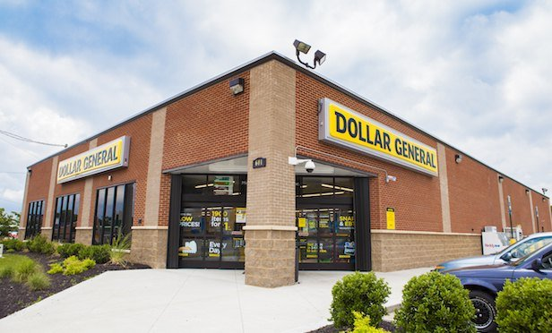 Exterior of Dollar General store