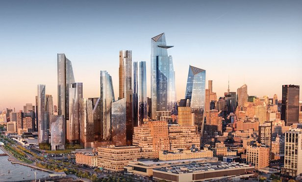 Rendering of Hudson Yards project