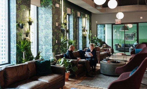 Interior of WeWork space