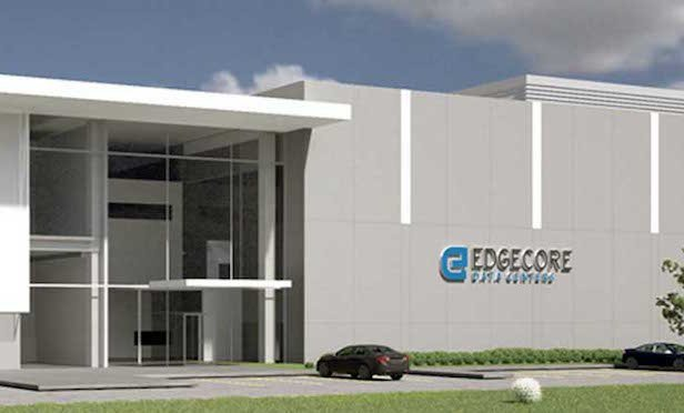 Rendering of data center exterior