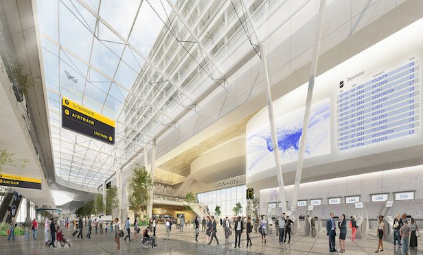 A rendering of the new terminal to be built at LaGuardia Airport.