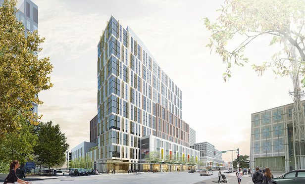 A rendering of the Tremont Crossing project at the Parcel P3 site in Roxbury.