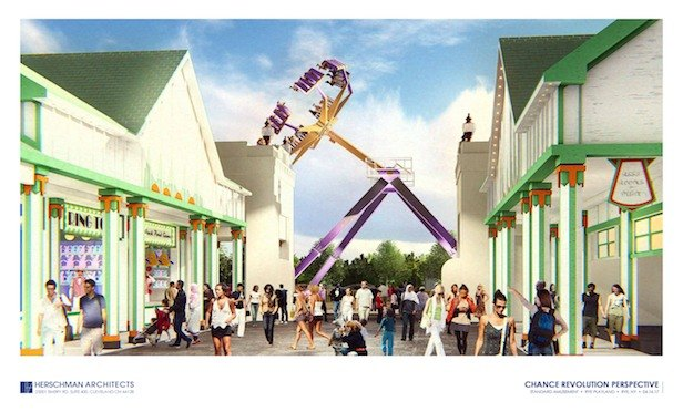 A rendering of the Revolution 32 ride, scheduled to make its appearance in 2019 at Rye Playland.