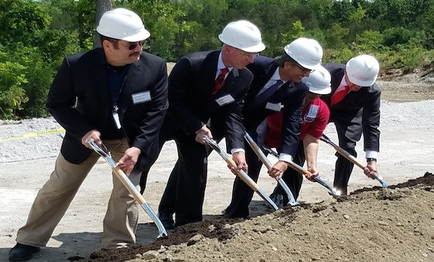 The first dirt was turned on the 1,100-megawatt Cricket Valley Energy Center project on Wednesday.