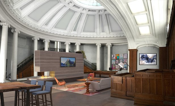 The project will include the historic rehabilitation and preservation of the historic former Worcester County Courthouse. Credit: The Architectural Team