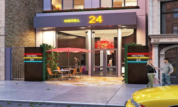 A rendering of the boutique hotel to be developed by Delshah Capital at 17 W. 24th St.
