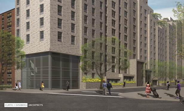 A rendering of Lexington Gardens II in East Harlem. Credit: Curtis + Ginsburg