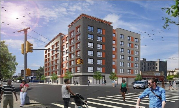A rendering of Passive House planned for 4691-4697 Third Ave. in the Bronx. Credit: Curtis and Ginsberg Architects, LCP