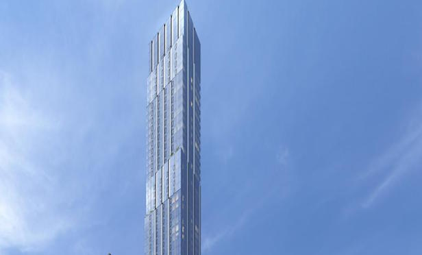 The luxury condominium project at 138 E. 50th St. is now under construction.