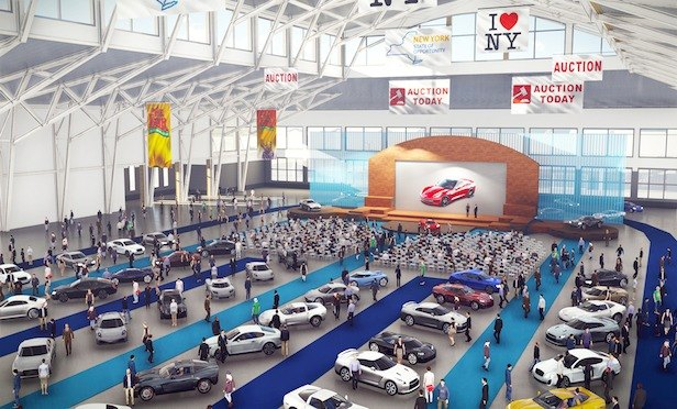 A rendering of the new exposition center at the State Fairgrounds in Syracuse, NY.