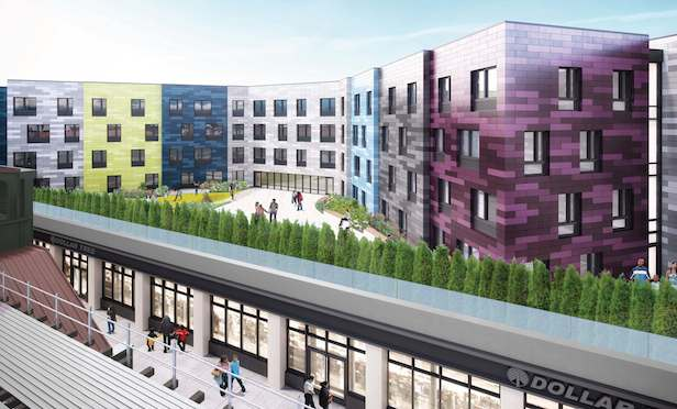 A rendering of the 1510-1524 Broadway mixed-use project in Brooklyn.