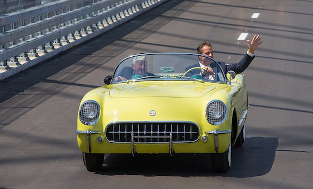 "Gov. Cuomo drove on the new bridge span in a 1955 Corvette with Armando ""Chick"" Galella of Sleepy Hollow, who drove the same model year Corvette as part of the inaugural procession that crossed the Tappan Zee Bridge on Dec. 15, 1955."