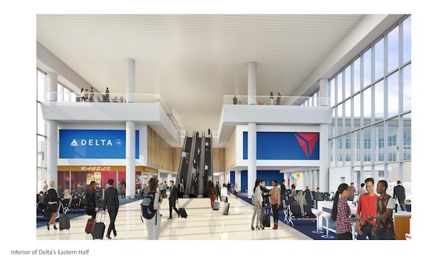 A rendering of Delta Airline's new terminal at LaGuardia Airport in Queens.