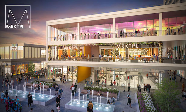 A rendering of the Empire Outlets development on Staten Island.