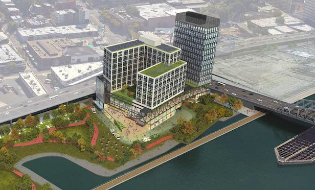 Bronx Point at full build-out will include up to 1.045 housing units.