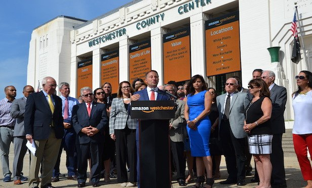 Westchester County Executive Robert Astorino at the press conference announcing the county's intent to bid for Amazon HQ2.