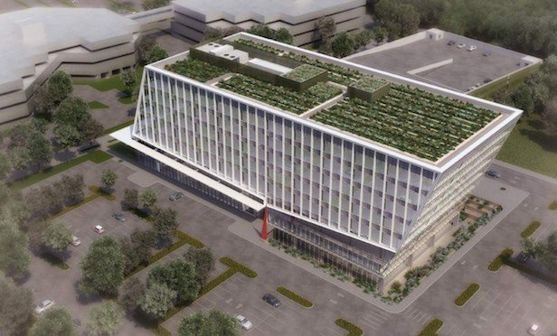 A rendering of Corporate Commons Three at the Teleport Campus on Staten Island.