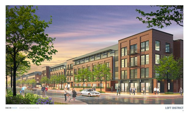 A rendering of the Loft District to be developed at the Edge-on-Hudson.