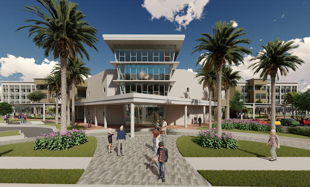 A rendering of the redeveloped JM Family Enterprises' corporate headquarters campus in Deerfield Beach.