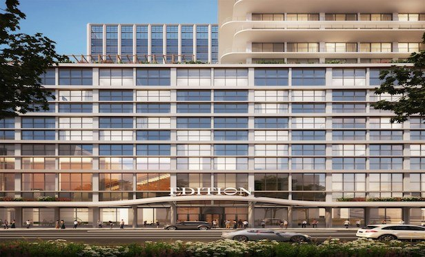 The Tampa Edition, a 173-room hotel, will rise as part of a 26-story tower being developed by Strategic Property Partners.