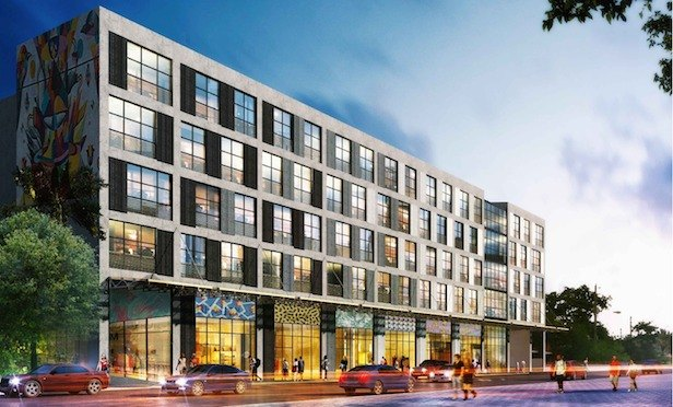 A rendering of The Bradley micro-apartment property under construction in the Wynwood district of Miami.