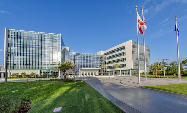 The new UTC Center for Intelligent Buildings complex in Palm Beach Gardens, FL.