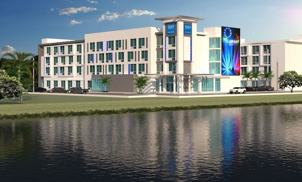 A rendering of the 98-room Tryp by Wyndham hotel. Construction on this project is expected to begin later this year.