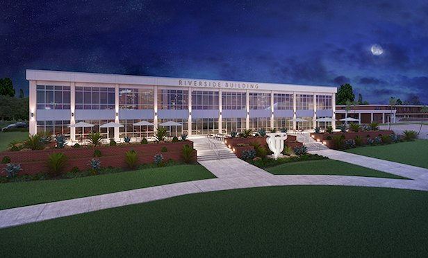 A rendering of the renovated and expanded Riverside Center on the University of Tampa campus.