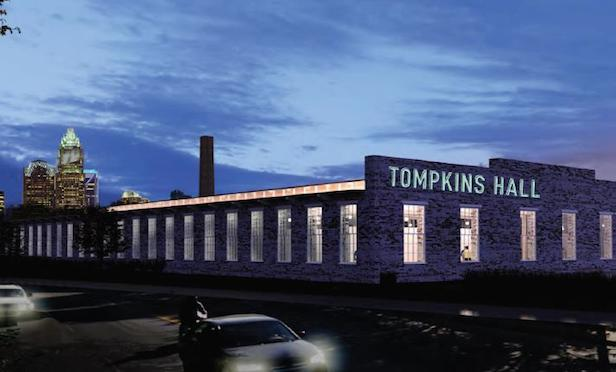 A rendering of the Tompkins Hall project in Charlotte, NC. BridgeInvest's Specialty Credit Fund II provided $40 million in financing for the project.