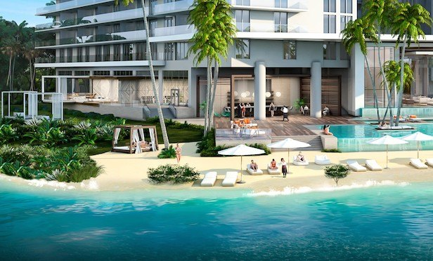 Key International expects to complete the twin-tower, 425-unit The Harbour in North Miami Beach in September.