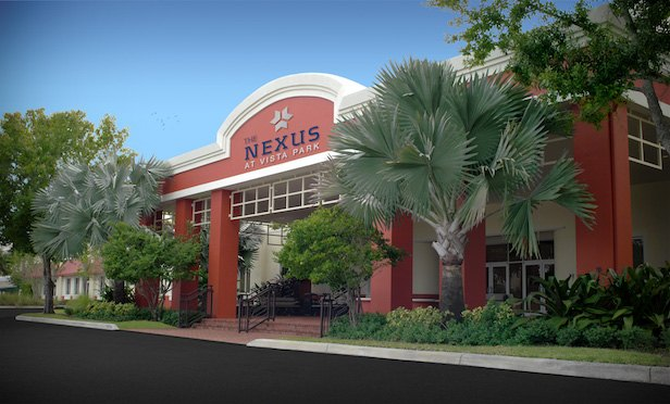 The Nexus at Vista Park totals more than 61,000 square feet and features 147 office suites.