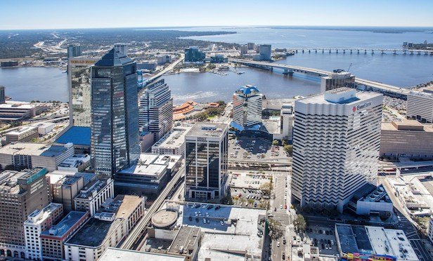 The 18-story BB&T office tower is currently 63% leased.