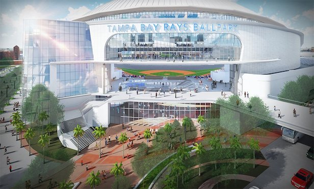 The new Rays stadium would be fully enclosed with a translucent, but not retractable roof.