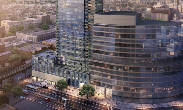 A rendering of the proposed 67-story Court Square City View Tower in Long Island City, Queens.