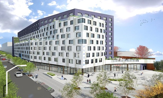 New York City agencies reported that a total of 670 affordable housing units are being built in Far Rockaway.