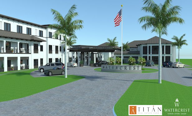 The Watercrest Winter Park senior living project is expected to be completed by late 2019.