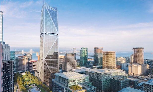 A rendering of the 181 Fremont luxury condominium building in San Francisco.