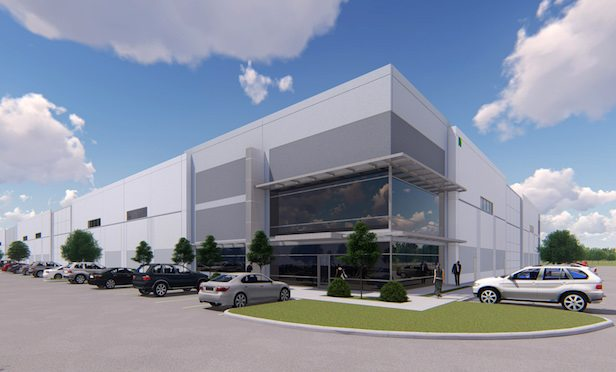 A rendering of the First Park 121 industrial project in Lewisville, TX.