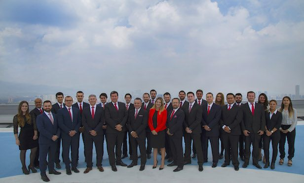 Newmark Knight Frank's new Global Corporate Services team in Mexico.