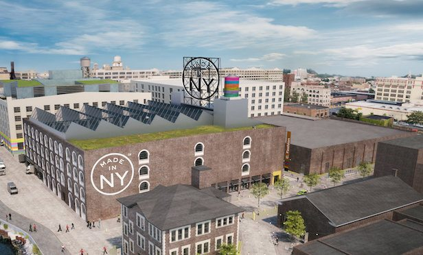 A rendering of the MiNY campus at the Bush Terminal in Sunset Park, Brooklyn.