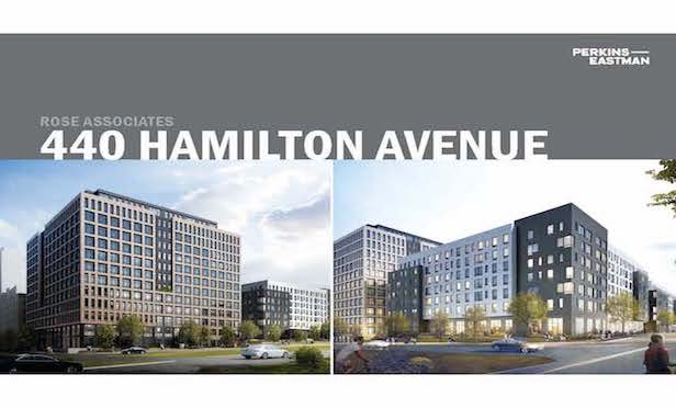 Renderings of the 440 Hamilton Ave. project.  Credit: Perkins Eastman