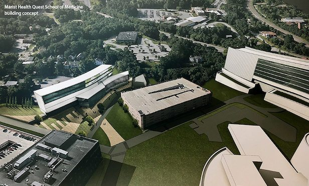 A conceptual plan of the new Marist Health Quest School of Medicine.