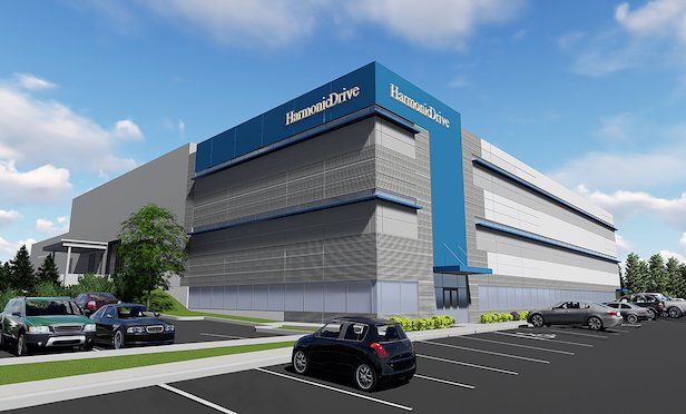 A rendering of Harmonic Drive's new headquarters in Beverly, MA.