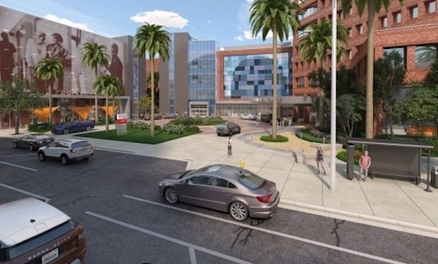 Dignity Health California Hospital Medical Center new patient tower rendering. Photo Credit: Business Wire