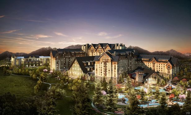 A rendering of the Gaylord Rockies Resort & Convention Center in Aurora, CO.