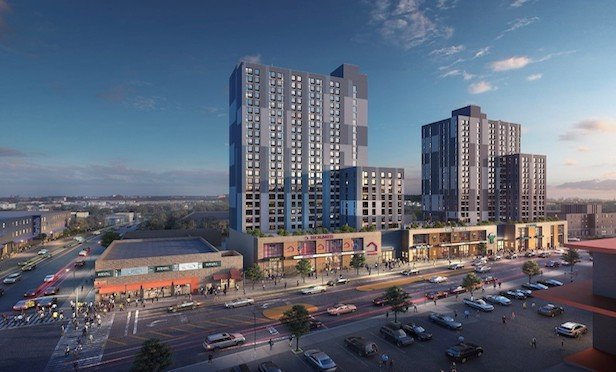 A rendering of Archer Green Apartments in Jamaica Queens. Credit: Edelman Sultan Knox Wood Architects